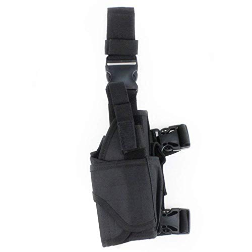 (Agile-shop Tornado Tactical Leg Holster Black Adjustable Tactical Army Drop Leg Holster for Pistol Gun Drop Puttee Thigh Holder)