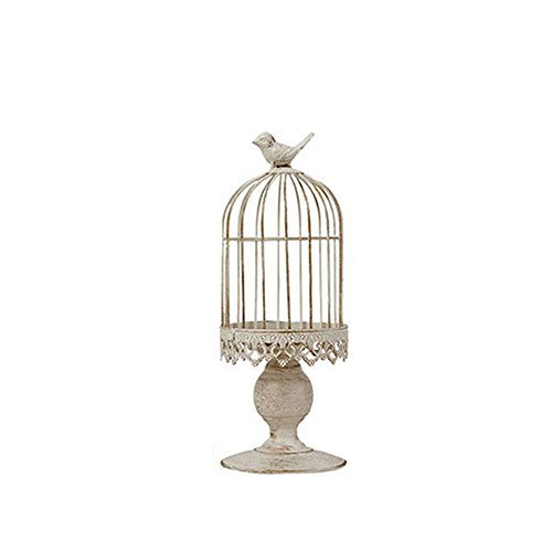 RuiXiang Open Birdcage Candle Holder,Vintage Candle Holder,Wrought Iron Decoration Birdcage Candle Holder,Wedding Romantic Birthday Supplies (Small)