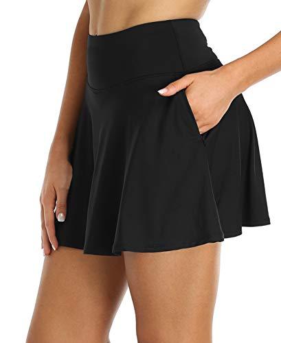 חצאית ספורט קצרה שחורה המיועדת לנשים רק באתר tennisnet!