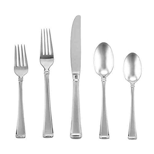 Column Frosted by Gorham Stainless Steel Flatware Set Service 8 New 45 pieces