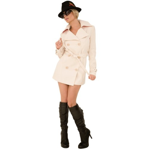 [Trench Coat Flasher Costume - Small/Medium - Dress Size 2-8] (Holoween Costumes Ideas)