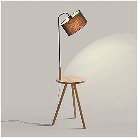 BUDBYU Lámpara de pie, Sala de Estar, Dormitorio, sofá Moderno Simple, Mesa de Centro, mesita de Noche, lámparas de Madera (Color: B) decoración: Amazon.es: Deportes y aire libre