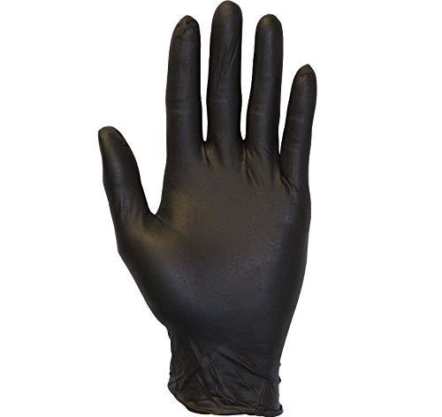 ブラックニトリル使い捨て手袋 パウダーフリー 工業用手袋 3.5ミル ミディアム 5000ピース B07921QW24