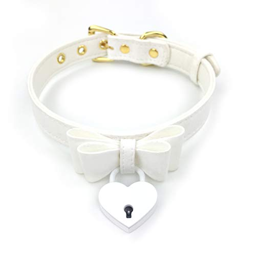 Intimate Lover Bell Choker Collar Necklace Lolita Bow Collar Cat Cosplay Kitty Velvet Necklace (Z10 - Dog Leather Pet Cat