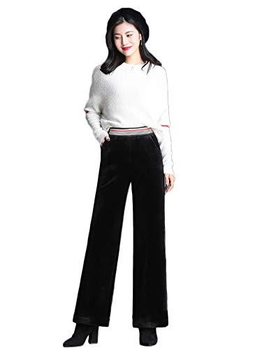 Hiver Pour Haute Raccourci Pantalon Noir Taille Femmes Idopy Court qwx4vTRR0