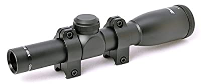 Hammers Elite Compact Lightweight Handgun Revolver Pistol Scope 2X20 with Weaver Rings, Black by Wing-Sun Trading, Inc.