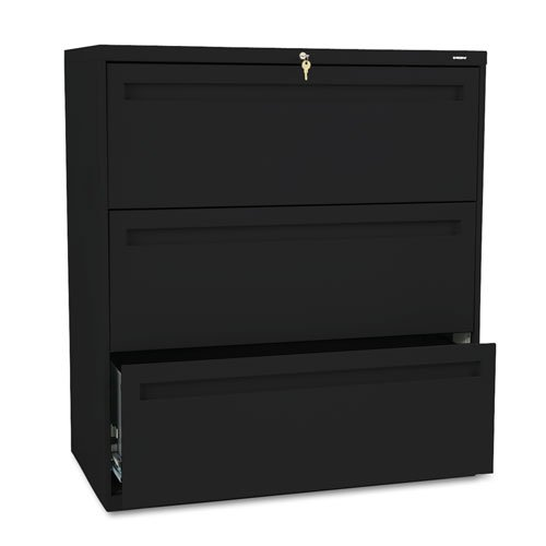 HON 783LP 700 Series 36 by 19-1/4-Inch 3-Drawer Lateral File, Black by HON