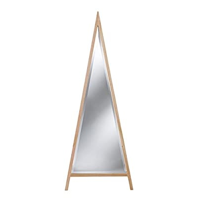 SEI Holly & Martin Whimsy Decorative Leaning Mirror - Decorative leaning mirror can also be hung vertically or horizontally Triangular mirror features chic beveled edges and cool raw finish Materials: Poplar, engineered wood, and beveled mirror - mirrors-bedroom-decor, bedroom-decor, bedroom - 31mC26eUwXL. SS400  -