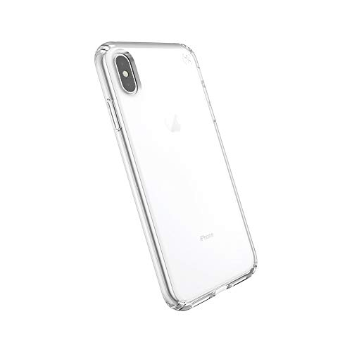 Speck Products Compatible Phone Case for Apple iPhone XS Max, Presidio Stay Clear Case, Clear/Clear ()