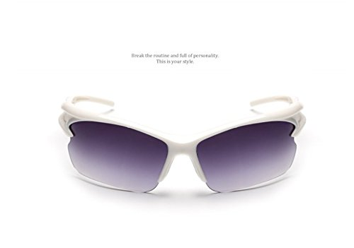 blueqier Creative Fashion Creative Sunglasses Sport Bike Glasses (black)