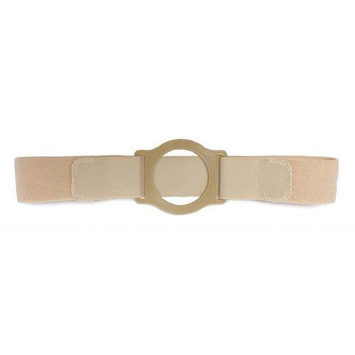 Nu-Comfort 2'' Wide Beige Support Belt 2-3/4'' I.D. Ring Plate 41'' - 46'' Waist X-Large, Latex-Free BG-2626-A Qty 1