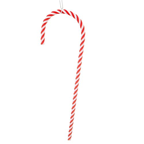 Pack of 2 Red and White Striped Candy Cane Christmas Ornaments 18