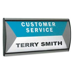 (People Pointer Wall/Door Sign, Aluminum Base, 8 3/4 X 4, Black/Silver)