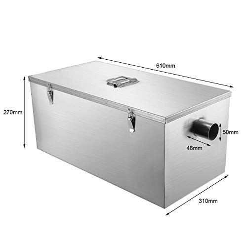 Industrial Kitchen Qatar: BEAMNOVA Commercial Grease Trap 25lbs 13GPM Gallons Per