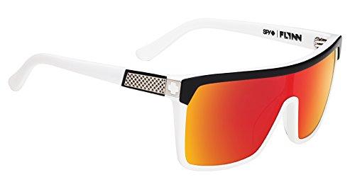 Spy Men's Mirrored Flynn 670323090365 White Shield - Flynn Sunglasses Spy