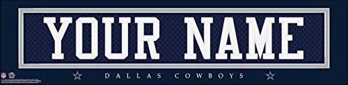 Dallas CowBoys NFL Jersey Nameplate Wall Print, Personalized Gift, Boys Room Decor 6x22 Unframed Poster