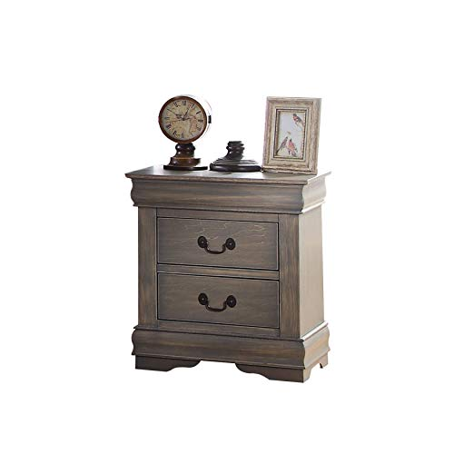 ACME Louis Philippe Nightstand – 23863 – Antique Gray