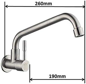 現代のスイベルウォールは真鍮冷たい水をタップ流域台所のシンクの蛇口は無料、クローム仕上げの鉛マウント