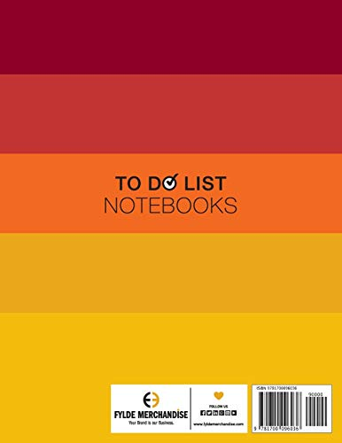 """To Do List Notebook, To Do List For Work: Notepad 8.5"""" x 11"""" 200 Pages Large Organizer, Create Daily And Weekly Lists And Prioritize Tasks, Calendar 2020, 2011 & 2012 