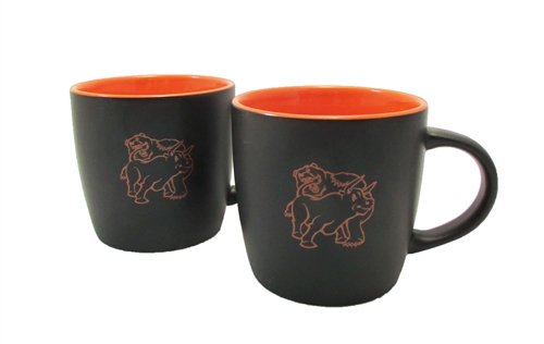 Set of Two Fighting Bull & Bear Coffee Mugs -Orange Cafe - Stock (Stock Market Bull And Bear)