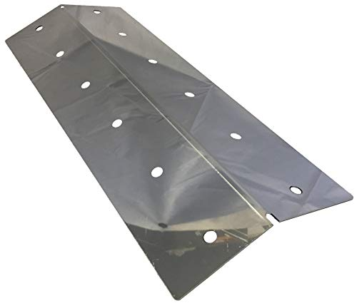 16 1/2 x 6 1/4, Stainless Heat Shield, Captn Cook, Coleman, Nexgrill, Turbo   COHP1