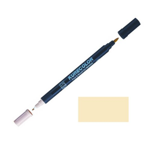 Zig-Kurecolor-Manga-Cartoonist-Fine-Brush-Dual-Tip-Marker-Cream-Yellow