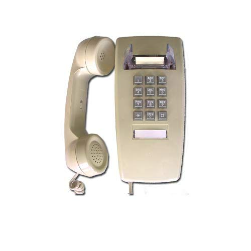 Single Line Classic 2554 Wall Phone with Loud Ringer and Handset Volume Control, Beige/Ash - Wall Mount Jack Required (Control Corded Phone Volume)