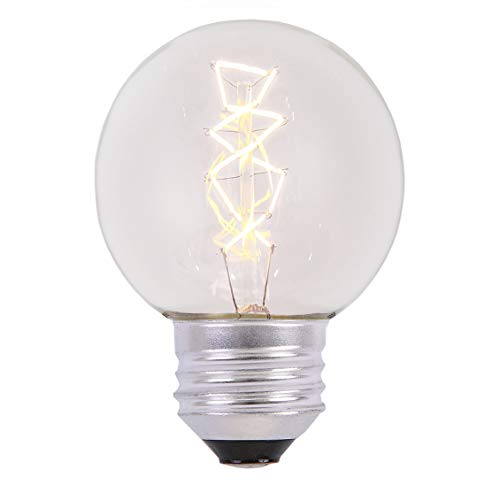 12-Pack G60 11W Spiral Filament Bulb,Clear Glass Amber Warm White Decorative Antique Vintage Edison Incandescent Bulbs for E26 Sockets,Waterproof Replacement Medium Base Globe Bulbs for Any Occasion (11w Spiral)
