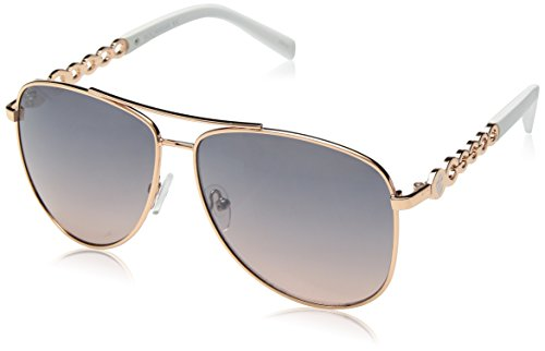 Rocawear Women's R687 Rgd Aviator Sunglasses, Rose Gold, 60 mm