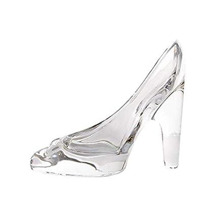prezzo più economico arriva prima clienti aloiness idea regalo ornamento, scarpe con tacco ciondolo regali di  cristallo trasparente scarpetta di vetro ornamenti matrimonio decorazione  regalo ...