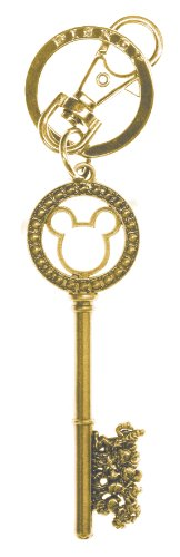 (Disney Gold Master Key with Gem Beads Pewter Key Ring )