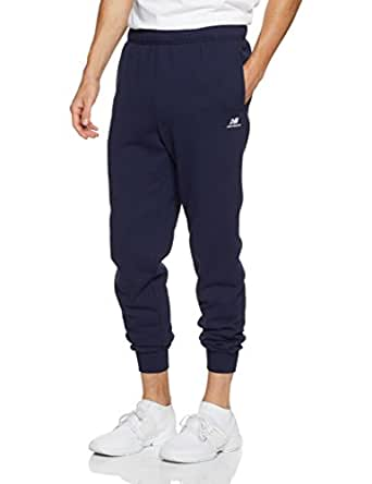 New Balance Men's Essential Tapered Track Pant, Blue, Medium