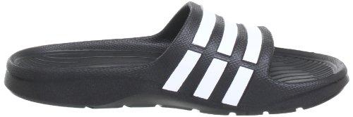 adidas Duramo Slide, Zapatos de Playa y Piscina para Niños Negro (Black 1/Running White/Black 1)