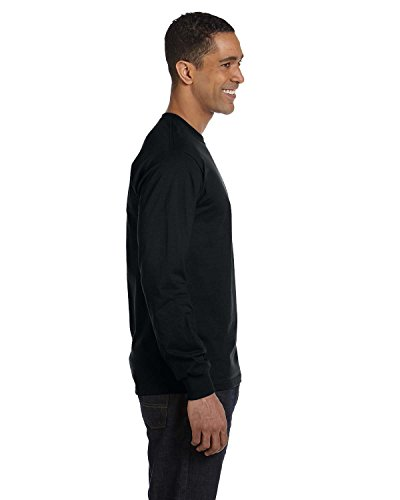 50 Adult S/s Tee - By Gildan Adult DryBlend 56 Oz, 50/50 Long-Sleeve T-Shirt - Black - S - (Style # G840 - Original Label)