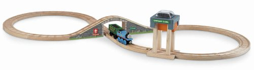 Fisher-Price Thomas the Train Wooden Railway Coal Hopper Figure 8 Set (Starter Set Train Thomas)