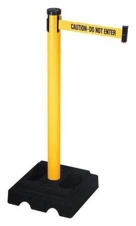 Barrier Post with Belt, 40 In. H, 10 ft. ()
