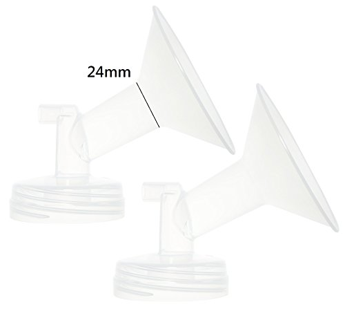 Nenesupply 2 24MM Compatible Flanges for Spectra S2 Spectra S1 Spectra 9 Plus Breastpump. Made By Nenesupply. Not Original Spectra Pump Parts Not Original Spectra S2 Accessories Replace Spectra Flange