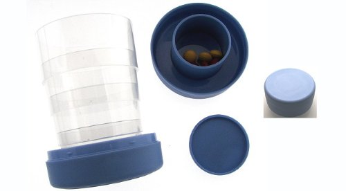 Apothecary Collapsible Drinking Cup with Pill Container (...