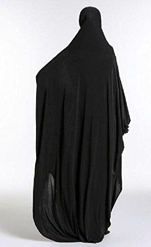 donne Coolred Oriente Medio Abito Musulmano In Nero Jilbabs Tinta Abaya Unita 5wXdqwp