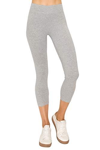 EttelLut Cotton Spandex Basic Leggings Pants-Jersey Full/Capri Regular/Plus Size