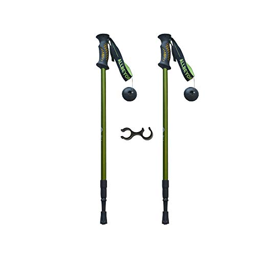 ALLBEYOND Trekking Poles Hiking Poles Collapsible Lightweight Aluminum 7075 Ultralight Anti-Shock Walking Sticks(Pack of 2 Poles) by ALLBEYOND