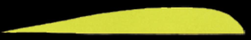 TRUEFLIGHT Feathers PARABOLIC Solid Color 5 LW Green 100//PK.