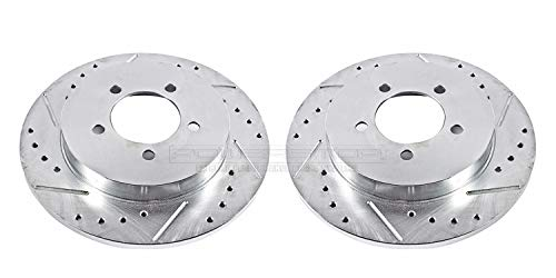 Power Stop AR8587XPR Rear Evolution Drilled & Slotted Rotor Pair