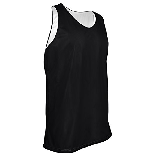 Game Gear MP-993-CB Men's Tank Top Polyester Micromesh Jersey-Uniform is Reversible to White (Large, Black/White)