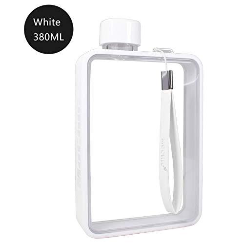 ecc62c780e87 Mochic A5 Water Bottle Flat Portable Travel Mug Handbag Slim Cold 380ml  (White)