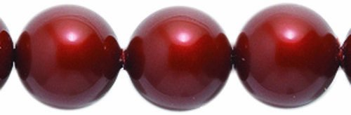 Swarovski 5810 Crystal Round Pearl Beads, 8mm, Bordeaux, - Pearl Glass 50 8mm Beads