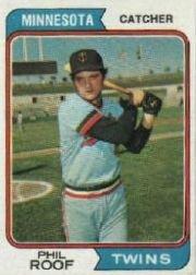 1974 Topps Baseball Card #388 Phil Roof Near ()