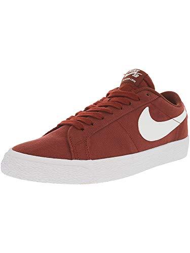Nike Men's Sb Blazer Zoom Low Dark Cayenne/White Top Canvas Skateboarding Shoe - 12M