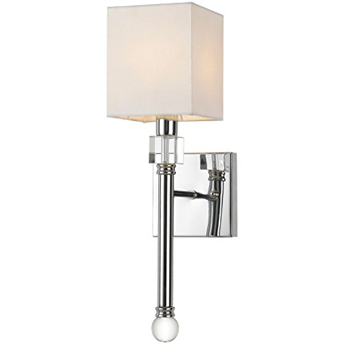 AF Lighting 9110-1W Sheridan Wall Sconce, One-Light, Chrome