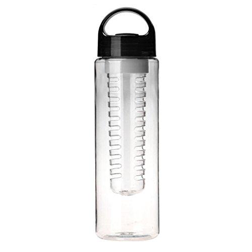Laimeng, 700ML Plastic Fruit Water Bottle Sports Lemon Cup (Black)